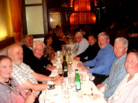 Colour Photograph of the 'Fire Safety for All' Speakers and Chairpersons during Dinner on the evening of Thursday, 9 April 2015 ... at Nico's Restaurant, Dame St., Dublin. Great food and wine, with lively conversation ... everybody was having a good time !